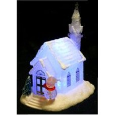 Battery Operated Snow House