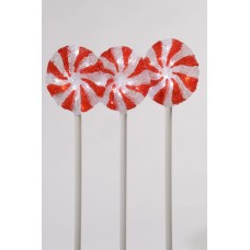 LED acrylic lollipops set of 3 lights